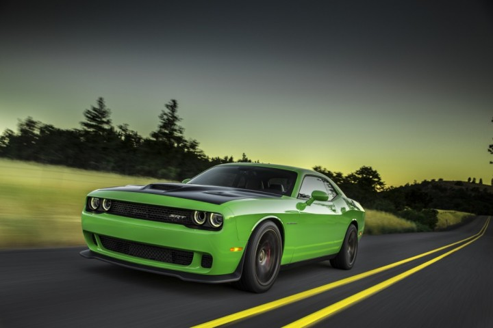 2015-dodge-challenger-srt-hellcat-front-three-quarter-in-motion